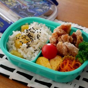 鶏のから揚げのお弁当と、ワンプレートランチ