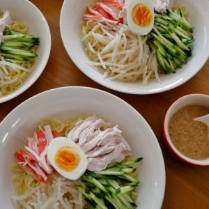 3食セットは卒業…4人分のごまだれ冷やし中華