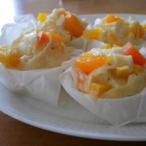 果物缶詰消費レシピ*フルーツ蒸しパン