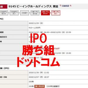 IPO ビーイングホールディングスが当選!