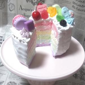 レインボーケーキ完成