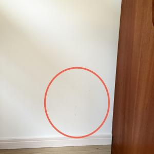 【壁紙の補修】エコフリースの汚れをペイントで修正。