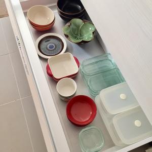 【キッチン収納公開】ホームセンターで見つけたアイテム活用で食器収納の見直し。
