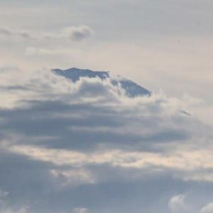 篠窪(しのくぼ)から見える 台風直後の富士山(2019/09/09)