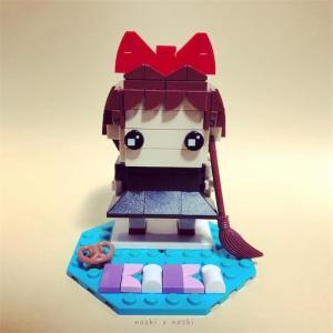 レゴで魔女の宅急便のキキを作ったよ!!(レゴブリックヘッズ)
