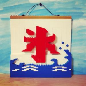 【レゴ遊び】レゴでかき氷屋さんの旗を作ってみた。