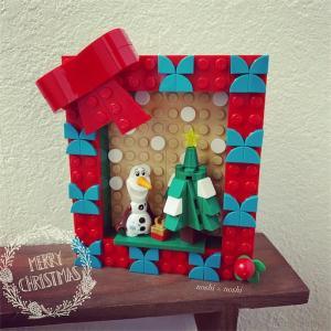 レゴドッツのクリスマスフレームを作ったよ