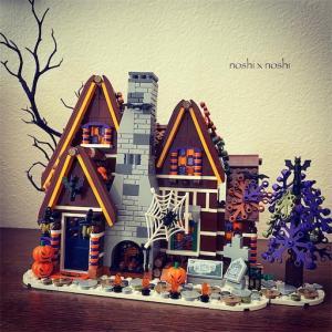 レゴハロウィンディスプレイ ジンジャーブレッドハウスをアレンジ♪