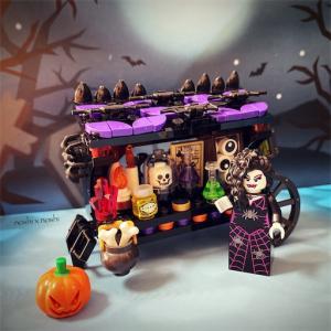 【レゴ遊び】レゴのハロウィン屋台
