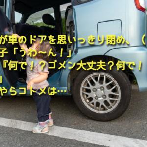 コトメが車のドアを思いっきり閉め、(ドン!)コトメ子「うわ~ん!」コトメ『何で!?ゴメン大丈夫?何で!?』私「…」→どうやらコトメは…