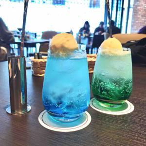 TIDE TABLEでブルーのクリームソーダ - 2021.03 潮見ホテルステイ vol.5