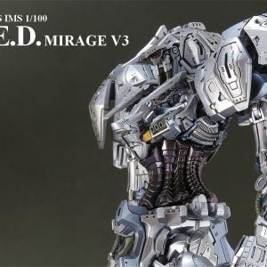 L.E.D.ミラージュV3 その8 フレーム完成