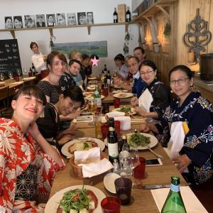 9月の着物でランチ会はチューリッヒのあの有名日本食レストランで