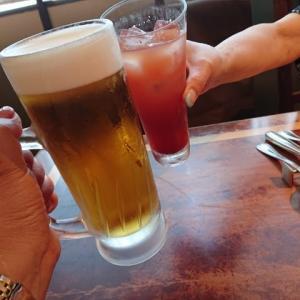リンパ浮腫友達と久し振りの乾杯!