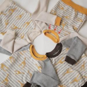 mahoeanela さんの「ラグラントレーナー」「ラグランTシャツ」を作ってみた♪ 難易度★★★☆☆ (後編)