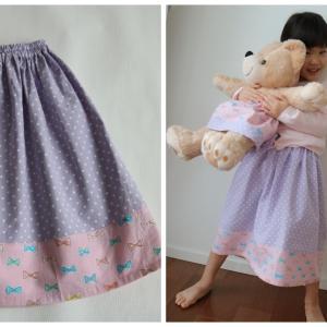 型紙無しで♪ 基本のギャザースカートを作ってみた♪ 難易度★☆☆☆☆