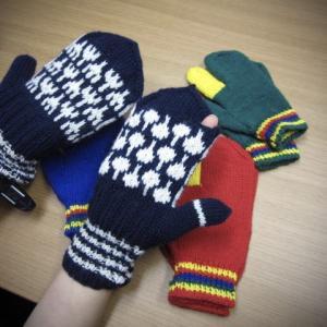 三つ指&ミトン手袋/生徒作品