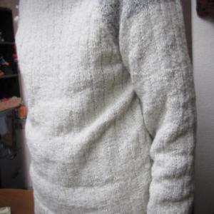 アルパカ糸のセーター/生徒作品