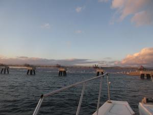 西宮釣人家半夜 とにかく寒かった。