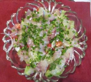 シマアジのカルパッチョ