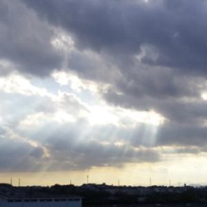 「天使のはしご」がみれた厳かな日
