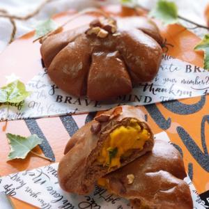 応用>かぼちゃクリームパン