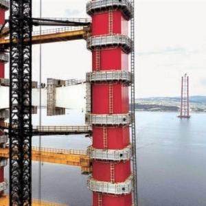 【世界最長】韓国企業、トルコで世界最長の吊り橋の主塔完工  [6/16]  [新種のホケモン★]