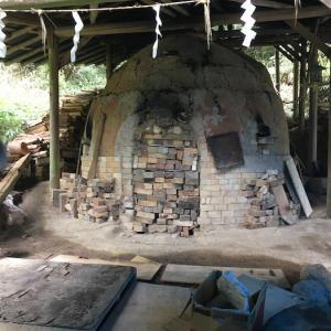山添村の登り窯、窯出しでした