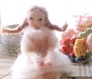 羊毛フェルト作品 2007年の女の子ドール♪