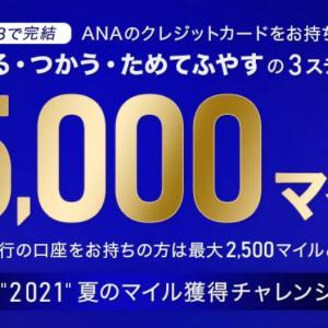 ANA「2021夏のマイル獲得チャレンジ」スタート!最大5,000マイル貯めるチャンスを解説!