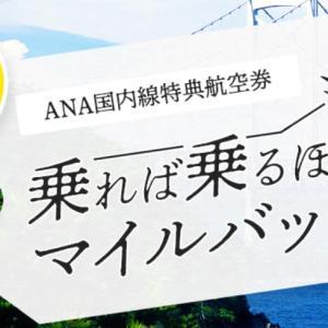 ANA乗れば乗るほどマイルバックキャンペーンスタート!特典航空券がさらに身近に?