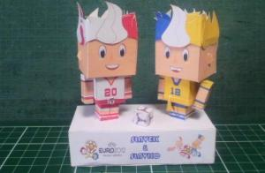UEFAユーロ2012のスラブクとスラブコ
