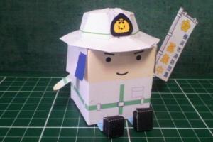 横浜市民防災センターの消防団防火衣