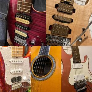 週末は自宅で過ごす。ギターを弾く。