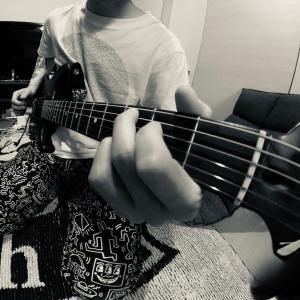ギターヘッドにカメラを付けて。