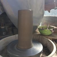 磁器土と粘土で作る半磁土の作り方。筒上げで、大物花器の製作 ラグビーワールドカップ2019決勝