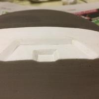 花入 鋳込み石膏型の製作 底の石膏型の鍵つけ