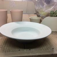 今日も陶芸 ワイドリムパスタ皿