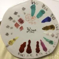 有田、鍋島赤絵への挑戦 36cm 白磁鎬皿の上絵付 どうしよう?