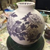 大物花瓶の染付