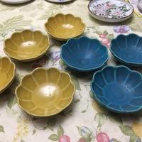 たたき石膏型の成型 小物菊皿