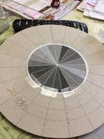 磁器大皿(尺皿30cm)の制作 陶芸に必要な割付き道具の制作