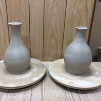 陶芸に素振りは必要 大物花瓶の制作