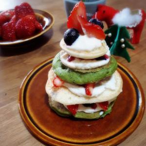 米粉のパンケーキで作るクリスマスorバースデーケーキ、開催します!