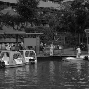 ボート場の店仕舞い光景