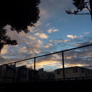 東京の夕方の空
