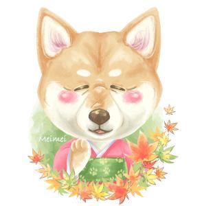 #敬老の日のうちの子似顔絵アイコン『柴犬のおばあワン』