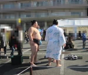 もちつき大会とお相撲さん