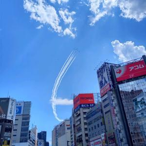 新宿でブルーインパルス見れた!
