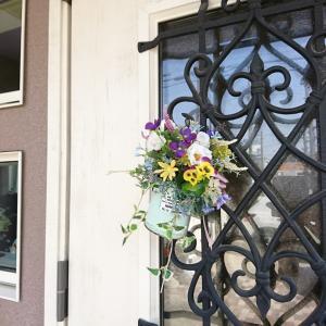 今月のドア飾り~*